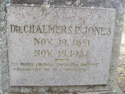 JONES, DR., CHALMERS P. - Cross County, Arkansas   CHALMERS P. JONES, DR. - Arkansas Gravestone Photos