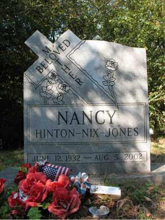 HINTON JONES, NANCY NIX - Cross County, Arkansas | NANCY NIX HINTON JONES - Arkansas Gravestone Photos