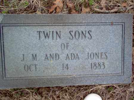 JONES, TWIN SONS - Cross County, Arkansas | TWIN SONS JONES - Arkansas Gravestone Photos