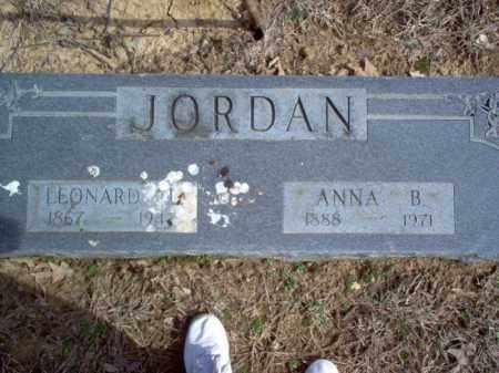 JORDAN, LEONARD L. - Cross County, Arkansas | LEONARD L. JORDAN - Arkansas Gravestone Photos