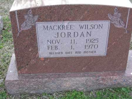 JORDAN, MACKREE WILSON - Cross County, Arkansas   MACKREE WILSON JORDAN - Arkansas Gravestone Photos