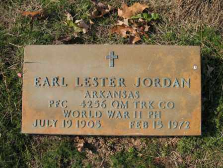 JORDAN (VETERAN WWII), EARL LESTER - Cross County, Arkansas | EARL LESTER JORDAN (VETERAN WWII) - Arkansas Gravestone Photos