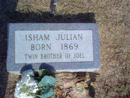 JULIAN, ISHAM - Cross County, Arkansas | ISHAM JULIAN - Arkansas Gravestone Photos