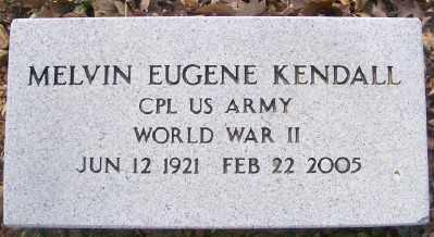 KENDALL (VETERAN WWII), MELVIN EUGENE - Cross County, Arkansas   MELVIN EUGENE KENDALL (VETERAN WWII) - Arkansas Gravestone Photos