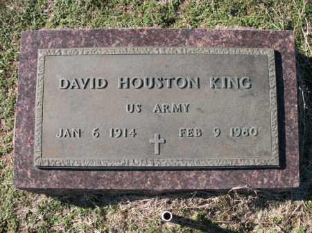 KING (VETERAN), DAVID HOUSTON - Cross County, Arkansas | DAVID HOUSTON KING (VETERAN) - Arkansas Gravestone Photos
