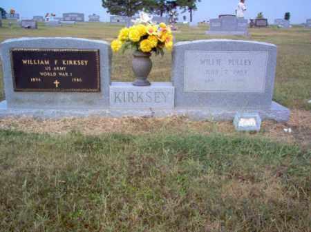 PULLEY KIRKSEY, WILLIE - Cross County, Arkansas | WILLIE PULLEY KIRKSEY - Arkansas Gravestone Photos