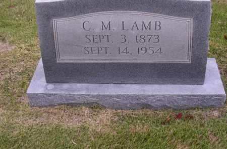 LAMB, C M - Cross County, Arkansas | C M LAMB - Arkansas Gravestone Photos