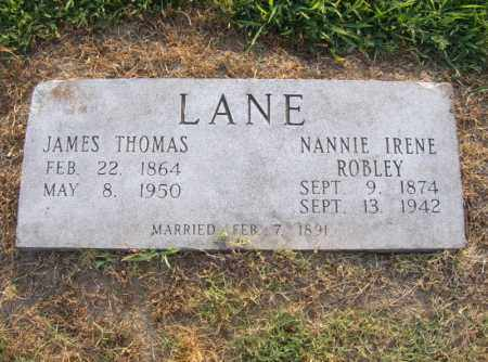 ROBLEY LANE, NANNIE IRENE - Cross County, Arkansas | NANNIE IRENE ROBLEY LANE - Arkansas Gravestone Photos