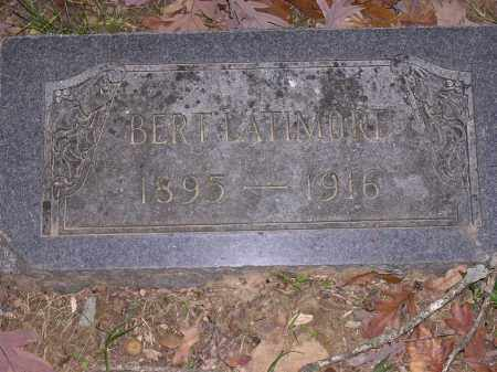 LATIMORE, BERT - Cross County, Arkansas | BERT LATIMORE - Arkansas Gravestone Photos