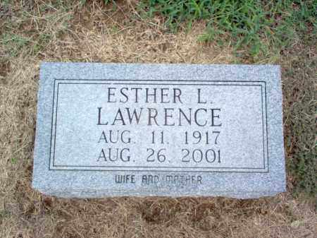 LAWRENCE, ESTHER L - Cross County, Arkansas | ESTHER L LAWRENCE - Arkansas Gravestone Photos