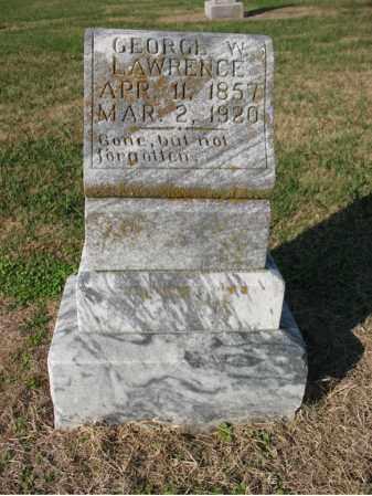 LAWRENCE, GEORGE W - Cross County, Arkansas | GEORGE W LAWRENCE - Arkansas Gravestone Photos