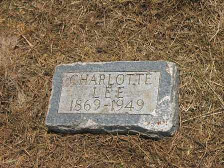 LEE, CHARLOTTE - Cross County, Arkansas | CHARLOTTE LEE - Arkansas Gravestone Photos