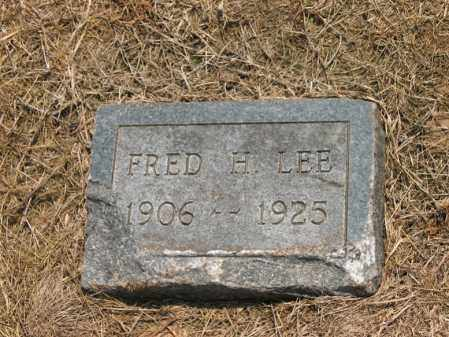 LEE, FRED H - Cross County, Arkansas | FRED H LEE - Arkansas Gravestone Photos