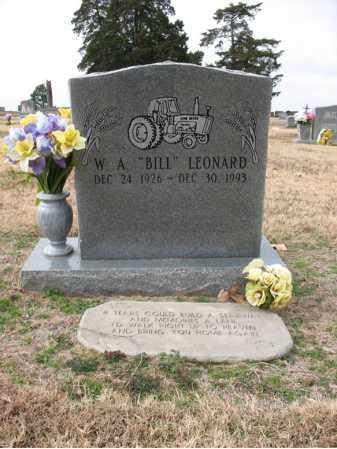 "LEONARD, W A ""BILL"" - Cross County, Arkansas   W A ""BILL"" LEONARD - Arkansas Gravestone Photos"