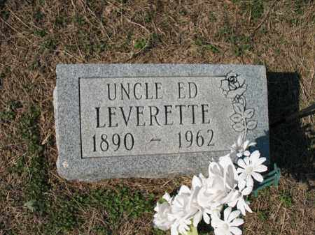 LEVERETTE, ED - Cross County, Arkansas | ED LEVERETTE - Arkansas Gravestone Photos