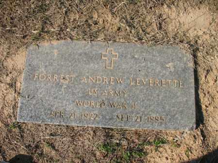 LEVERETTE (VETERAN WWII), FORREST ANDREW - Cross County, Arkansas | FORREST ANDREW LEVERETTE (VETERAN WWII) - Arkansas Gravestone Photos