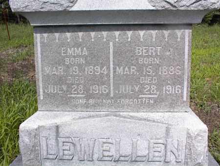 LEWELLEN, BERT - Cross County, Arkansas | BERT LEWELLEN - Arkansas Gravestone Photos