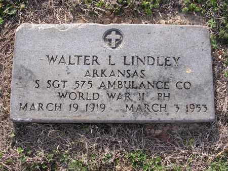 LINDLEY  (VETERAN WWII), WALTER L - Cross County, Arkansas   WALTER L LINDLEY  (VETERAN WWII) - Arkansas Gravestone Photos