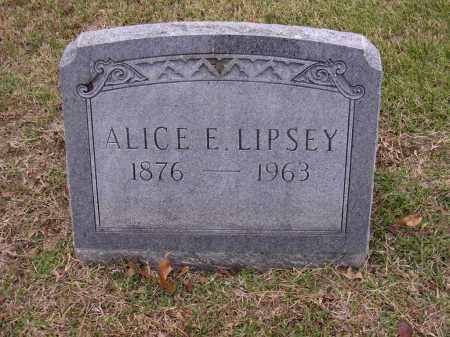 LIPSEY, ALICE E - Cross County, Arkansas   ALICE E LIPSEY - Arkansas Gravestone Photos