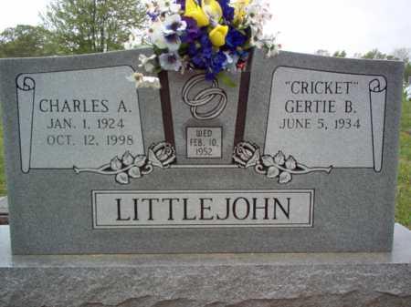 LITTLEJOHN, CHARLES A - Cross County, Arkansas | CHARLES A LITTLEJOHN - Arkansas Gravestone Photos