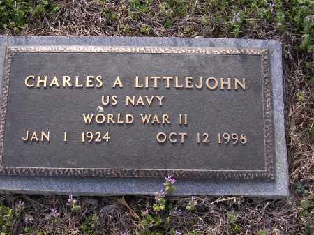 LITTLEJOHN (VETERAN  WWII), CHARLES A - Cross County, Arkansas | CHARLES A LITTLEJOHN (VETERAN  WWII) - Arkansas Gravestone Photos