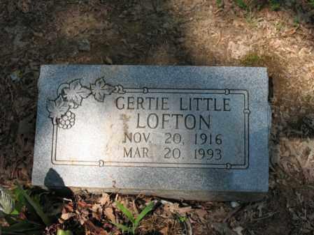 LITTLE LOFTON, GERTIE - Cross County, Arkansas | GERTIE LITTLE LOFTON - Arkansas Gravestone Photos
