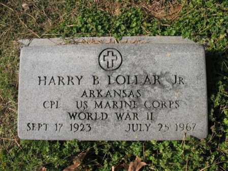 LOLLAR, JR (VETERAN WWII), HARRY BEACH - Cross County, Arkansas | HARRY BEACH LOLLAR, JR (VETERAN WWII) - Arkansas Gravestone Photos