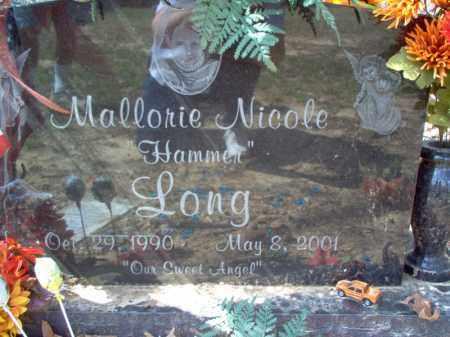 "LONG, MALLORIE NICOLE ""HAMMER"" - Cross County, Arkansas | MALLORIE NICOLE ""HAMMER"" LONG - Arkansas Gravestone Photos"