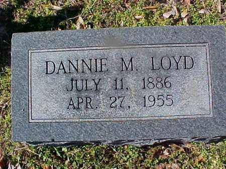 LOYD, DANNIE M - Cross County, Arkansas | DANNIE M LOYD - Arkansas Gravestone Photos