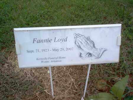 LOYD, FANNIE - Cross County, Arkansas | FANNIE LOYD - Arkansas Gravestone Photos