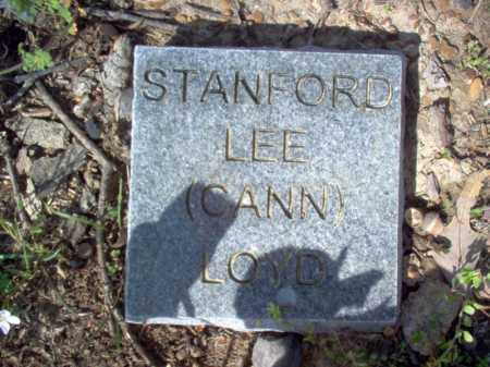 "LOYD, STANFORD LEE ""CANN"" - Cross County, Arkansas   STANFORD LEE ""CANN"" LOYD - Arkansas Gravestone Photos"
