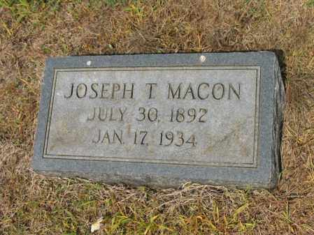 MACON, JOSEPH T - Cross County, Arkansas | JOSEPH T MACON - Arkansas Gravestone Photos