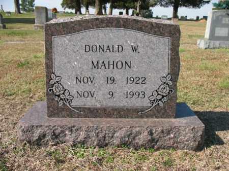 MAHON, DONALD W - Cross County, Arkansas   DONALD W MAHON - Arkansas Gravestone Photos