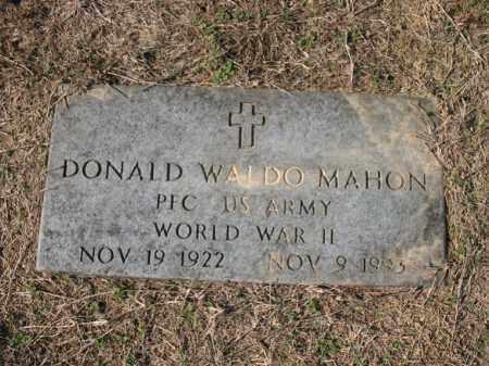 MAHON (VETERAN WWII), DONALD WALDO - Cross County, Arkansas | DONALD WALDO MAHON (VETERAN WWII) - Arkansas Gravestone Photos