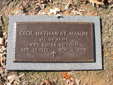 MASON (VETERAN 3 WARS), CECIL HATHAWAY - Cross County, Arkansas | CECIL HATHAWAY MASON (VETERAN 3 WARS) - Arkansas Gravestone Photos