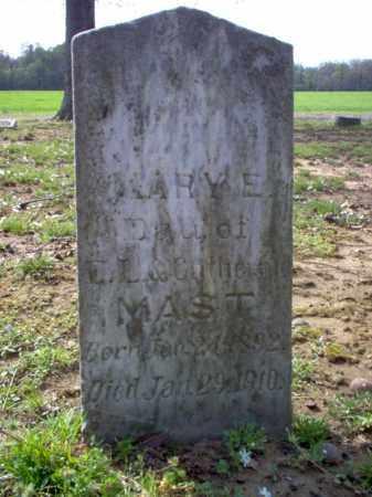 MAST, MARY E - Cross County, Arkansas | MARY E MAST - Arkansas Gravestone Photos