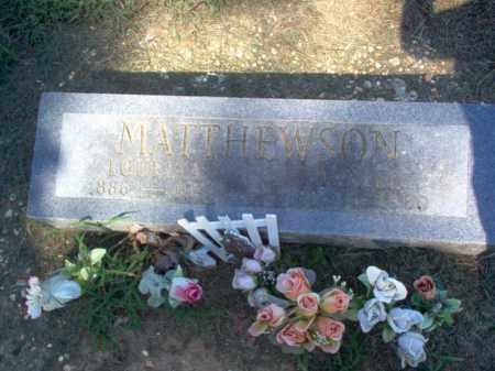 MATTHEWSON, LOUELLA - Cross County, Arkansas | LOUELLA MATTHEWSON - Arkansas Gravestone Photos
