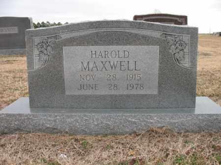 MAXWELL, HAROLD - Cross County, Arkansas | HAROLD MAXWELL - Arkansas Gravestone Photos