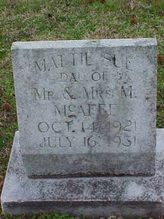 MCAFEE, MATTIE SUE - Cross County, Arkansas | MATTIE SUE MCAFEE - Arkansas Gravestone Photos