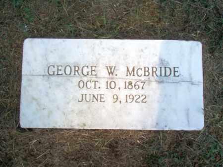 MCBRIDE, GEORGE W - Cross County, Arkansas   GEORGE W MCBRIDE - Arkansas Gravestone Photos