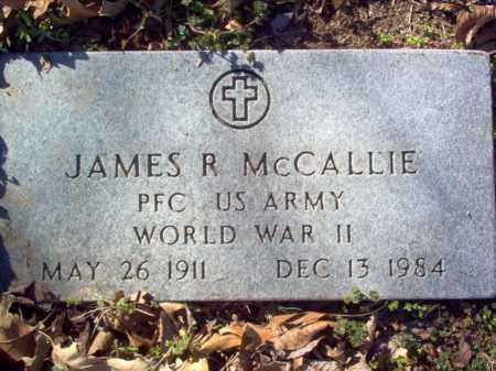 MCCALLIE (VETERAN  WWII), JAMES R - Cross County, Arkansas | JAMES R MCCALLIE (VETERAN  WWII) - Arkansas Gravestone Photos