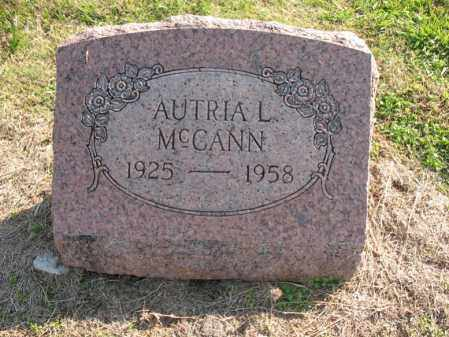MCCANN, AUTRIA L - Cross County, Arkansas | AUTRIA L MCCANN - Arkansas Gravestone Photos