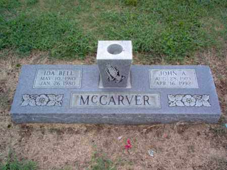 MCCARVER, JOHN A - Cross County, Arkansas | JOHN A MCCARVER - Arkansas Gravestone Photos