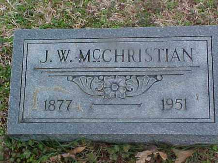 MCCHRISTIAN, J W - Cross County, Arkansas   J W MCCHRISTIAN - Arkansas Gravestone Photos