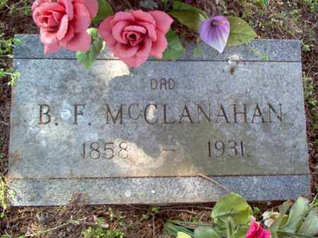 MCCLANAHAN, B F - Cross County, Arkansas | B F MCCLANAHAN - Arkansas Gravestone Photos