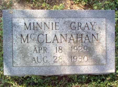 MCCLANAHAN, MINNIE GRAY - Cross County, Arkansas | MINNIE GRAY MCCLANAHAN - Arkansas Gravestone Photos