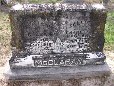 MCCLARAN, CHARLES W - Cross County, Arkansas   CHARLES W MCCLARAN - Arkansas Gravestone Photos