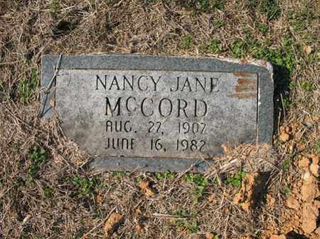 MCCORD, NANCY JANE - Cross County, Arkansas | NANCY JANE MCCORD - Arkansas Gravestone Photos