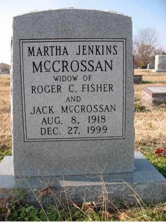 JENKINS MCCROSSAN, MARTHA - Cross County, Arkansas   MARTHA JENKINS MCCROSSAN - Arkansas Gravestone Photos