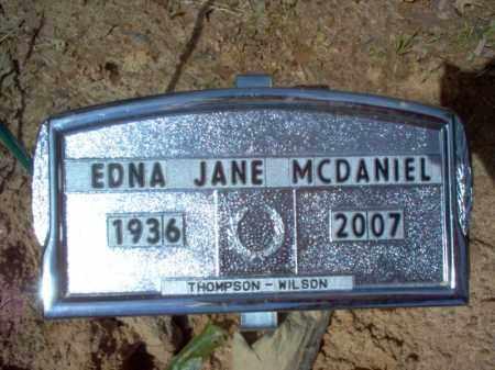 MCDANIEL, EDNA JANE - Cross County, Arkansas | EDNA JANE MCDANIEL - Arkansas Gravestone Photos